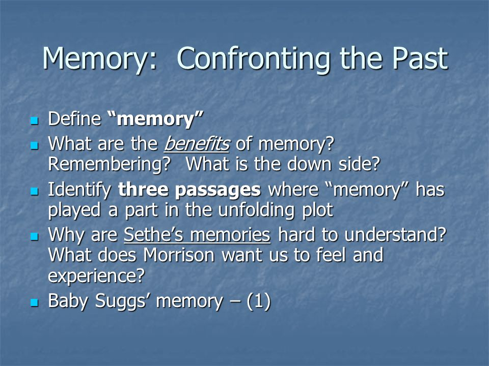 beloved by toni morrison ppt video online  3 memory confronting