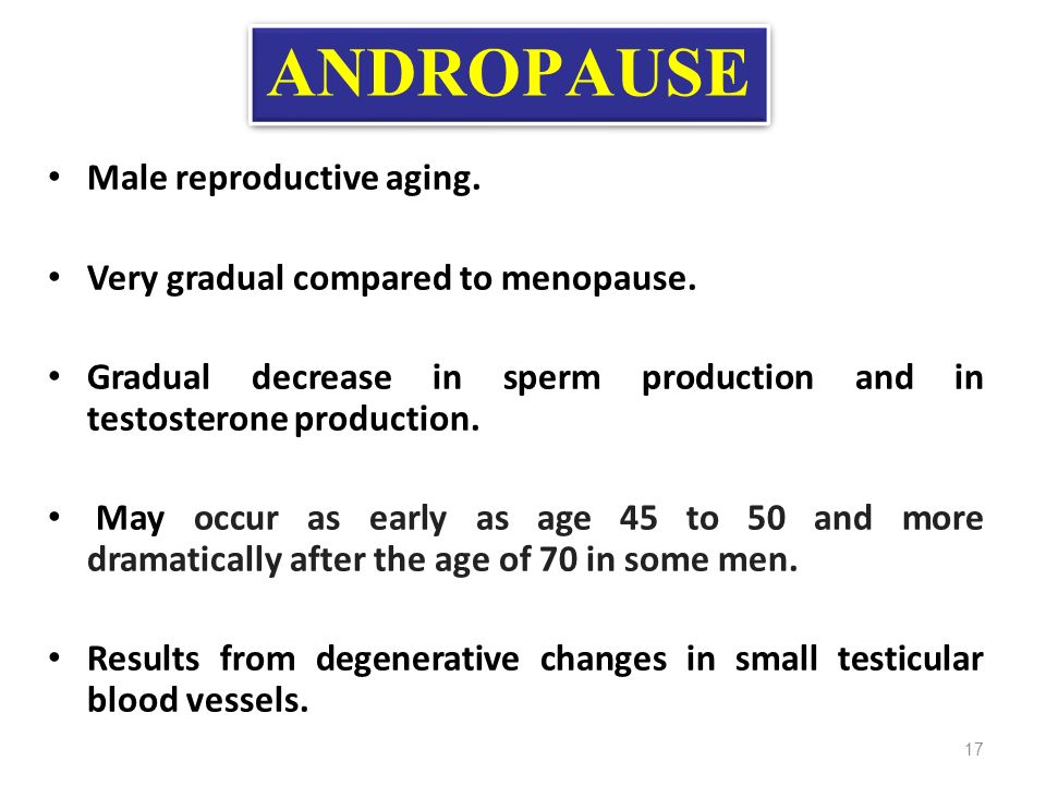 sperm age with decreased production