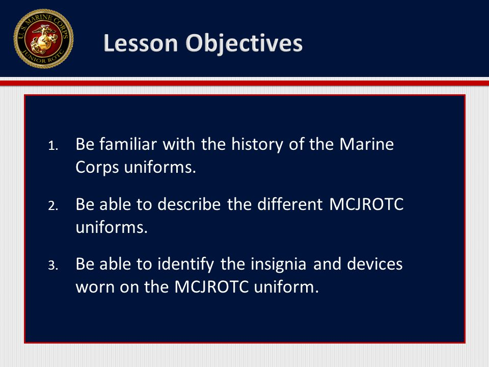 introduction to mcjrotc uniforms - ppt video online download, Modern powerpoint