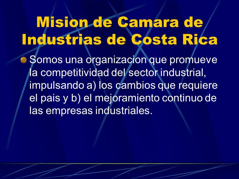 Mision de Camara de Industrias de Costa Rica