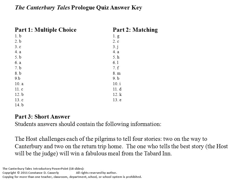 Essay Questions For The Canterbury Tales The Prologue