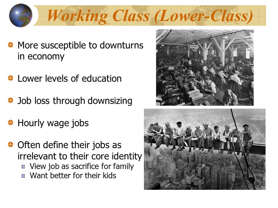 advantages to the working class from Advantages and disadvantages of a working class wives women of this generation believe that they study so hard to work as a professional and not sit at home like a homemakers or full-time.