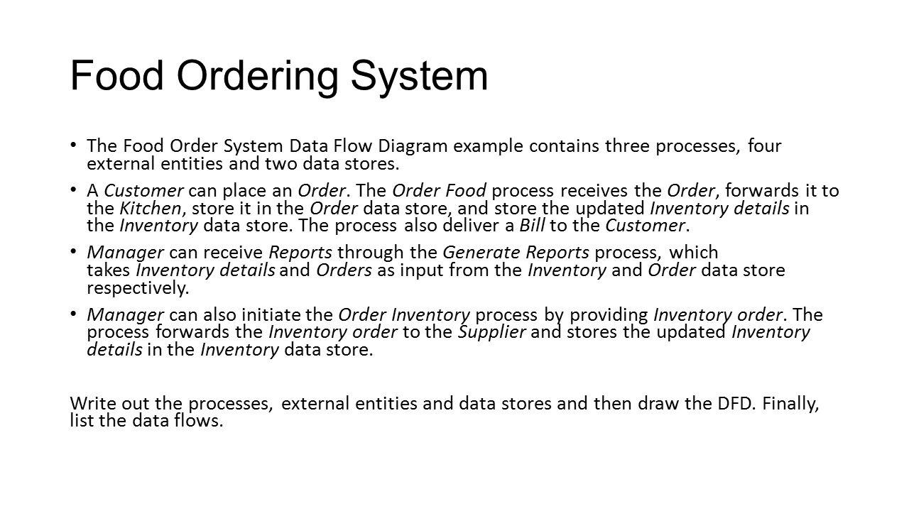Online Food Ordering  Dfd For Online Food Ordering System