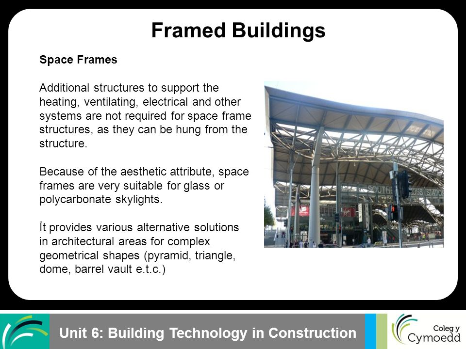 Framed Buildings Plane Frames Space Frames Skeleton Frames