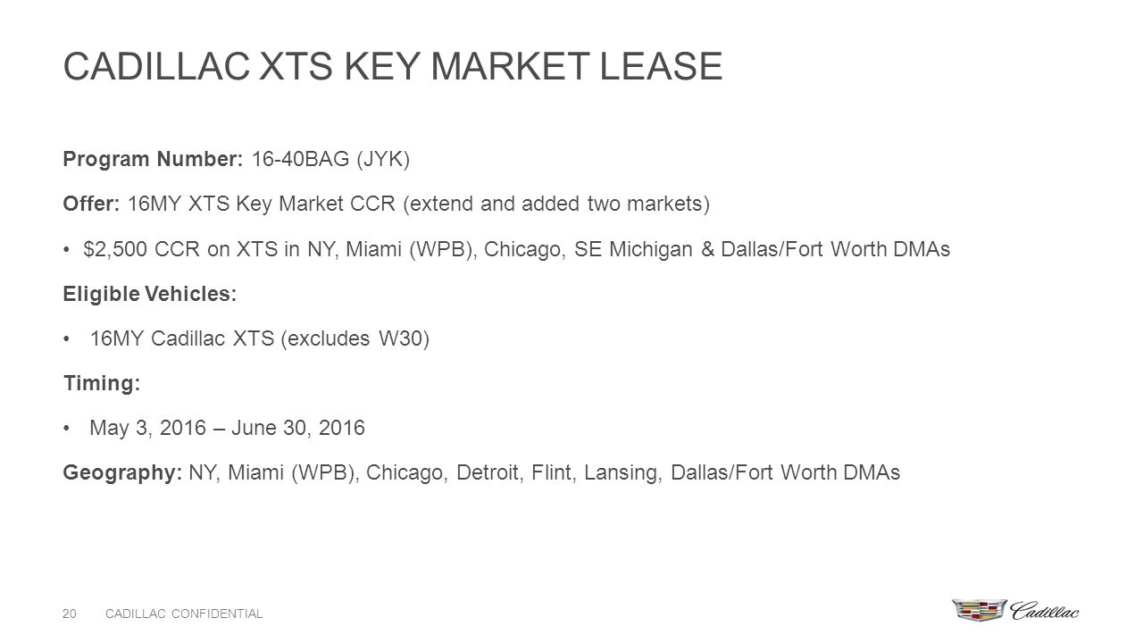 Incentive Gotomarket Update Ppt Download - Cadillac lease miami