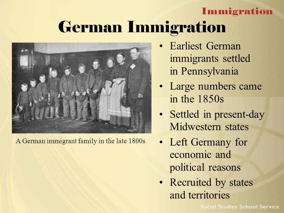 the history of german immigration to the united states Because the united states was perceived as an optimistic avenue for  as the  irish and german immigrants started to expand in the american labor market with .