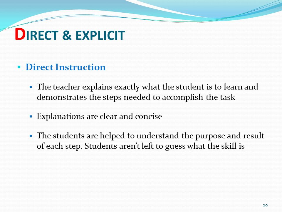 what is explicit direct instruction