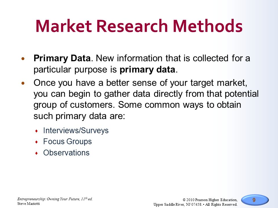 purpose of primary research An explanation of the differences between primary and secondary market research methods nor was it obtained for the purpose you are using it for i hope that makes sense if not here's a quick example that explains primary vs secondary market research.