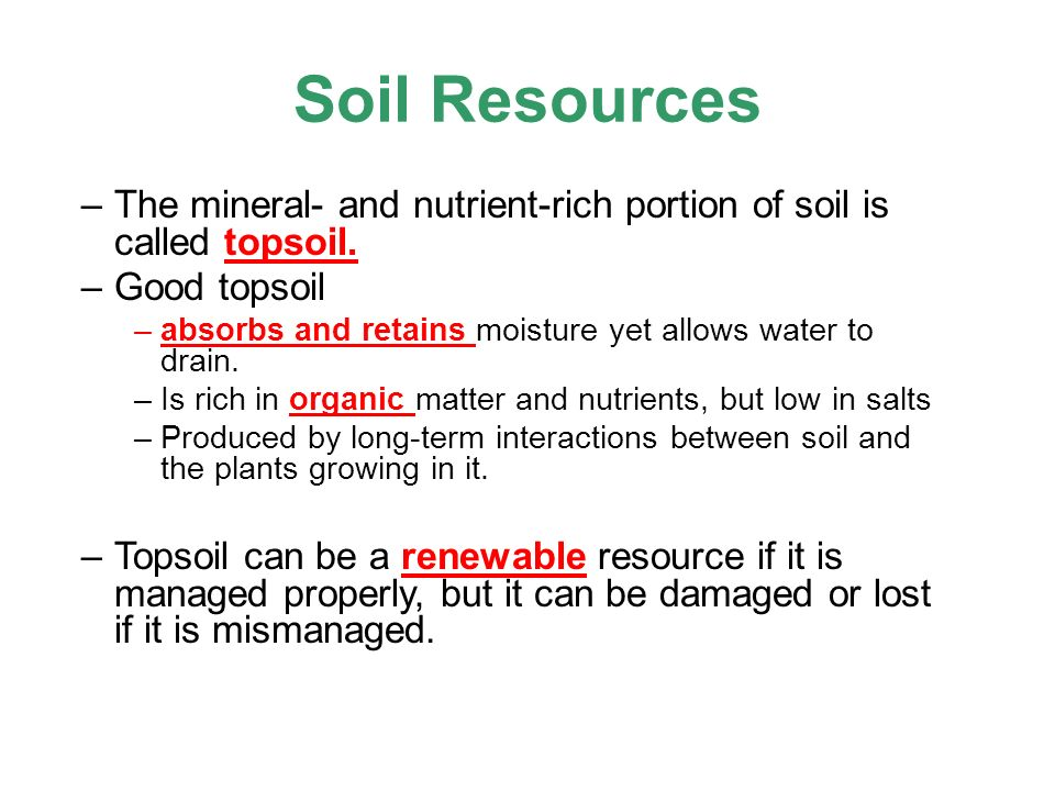 Key questions why is soil important and how do we protect for What is rich soil called