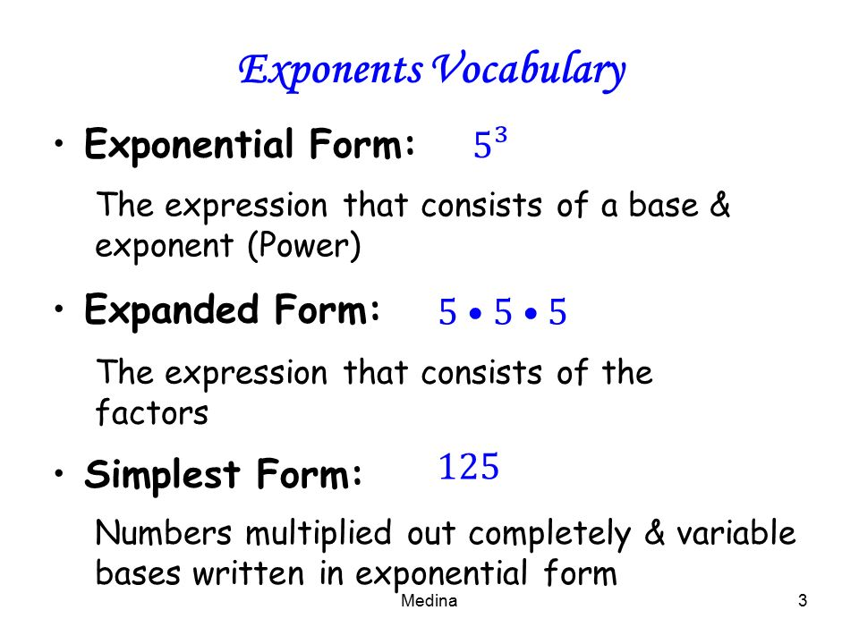 Exponent In Expanded Form Ceriunicaasl