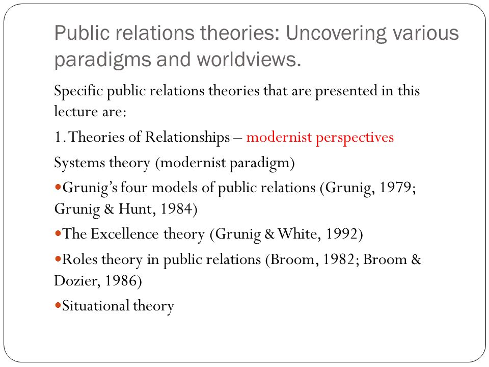 excellence theory of public relations I had the privilege of chairing the grunig lecture on sunday afternoon, october  17, in washington dc this was the third in a series of lectures.