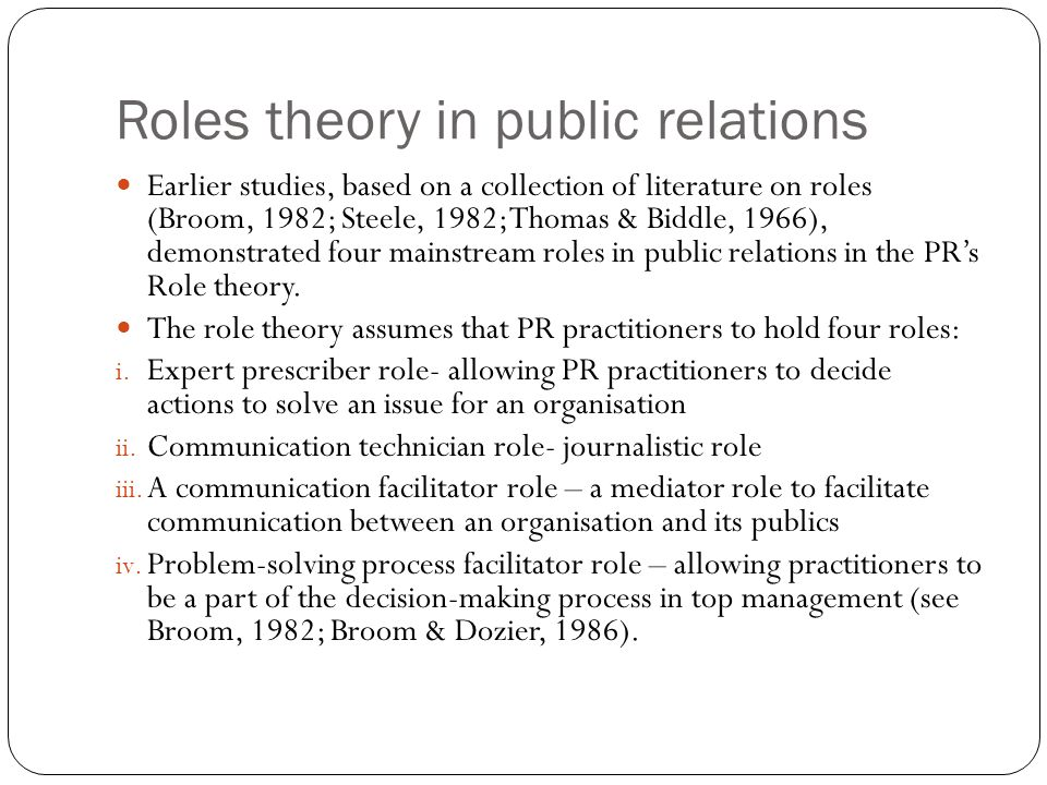 role of public relations practitioners pdf