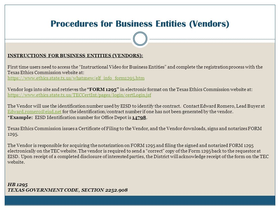 "FORM 1295 ""Disclosure of Interested Parties"" - ppt download"