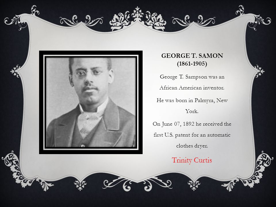 George T Samon Clothes Dryer ~ A world without black people written by philip emeagwali