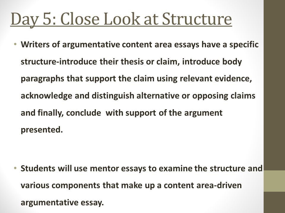 structure good argumentative essay