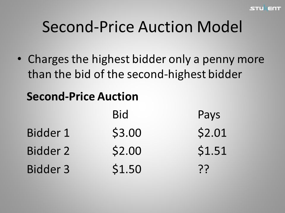 Second-Price Auction Model