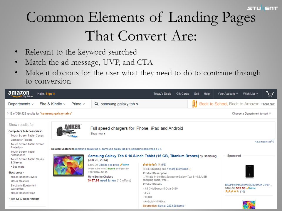 Common Elements of Landing Pages That Convert Are: