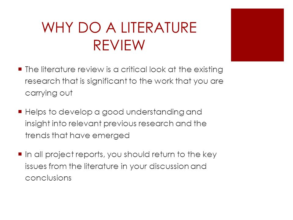 why review of literature included in a research report Emr 6400 fundamentals of emr you must include at least 10 original reports of research studies (primary sources) in your literature review/proposal.
