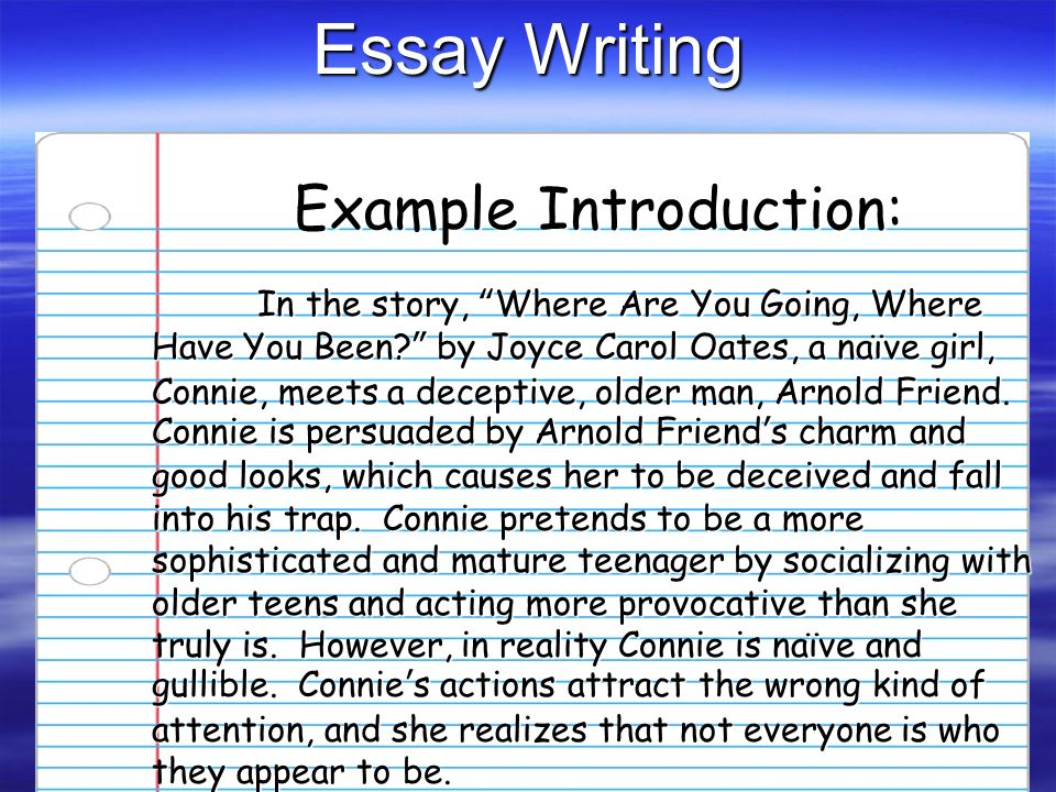 Where are you going where have you been essay introduction