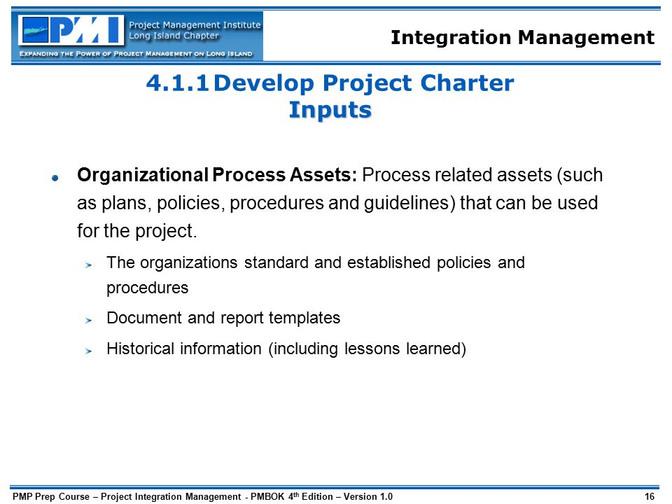 Project integration management ppt download 411 develop project charter inputs pronofoot35fo Image collections