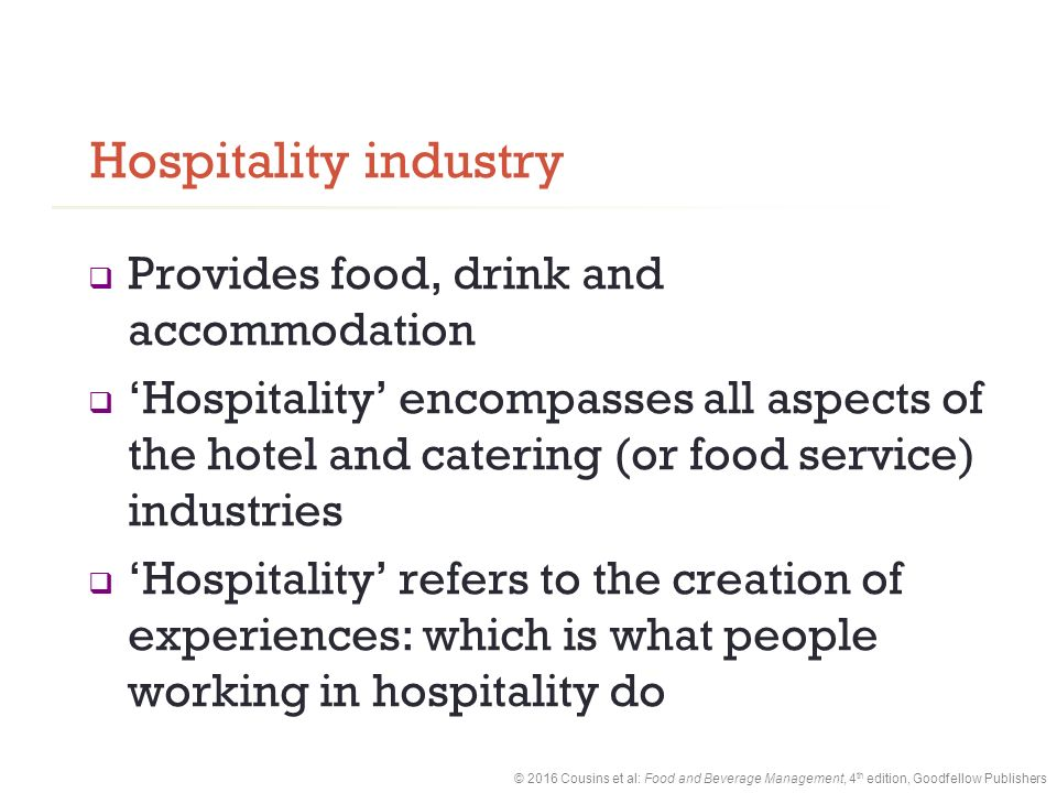 hospitality management and beverage operation Learn about the food & beverage operations and hotel & restaurant management online degree programs at the art institute of pittsburgh-online division.