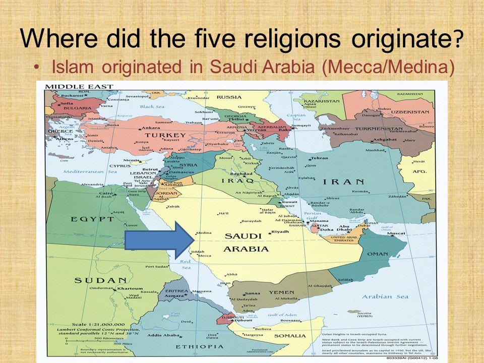 Five Major World Religions Ppt Video Online Download - Major world religions map