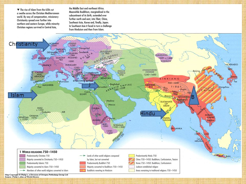 Five Major World Religions Ppt Video Online Download - World religion map before islam