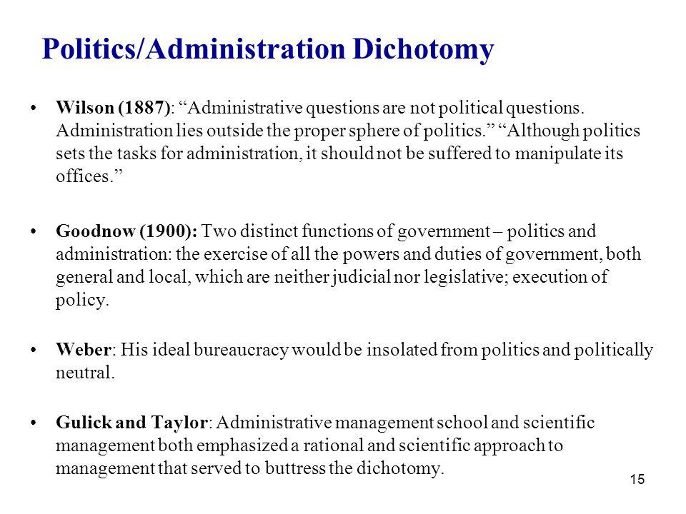 administration dichotomy