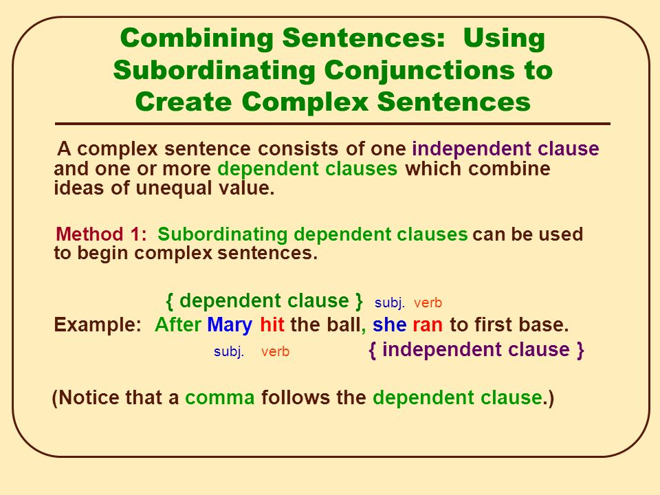 Complex Sentence Examples