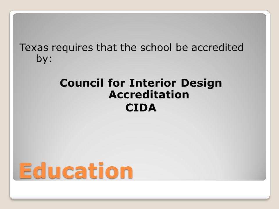 Cida accredited interior design programs