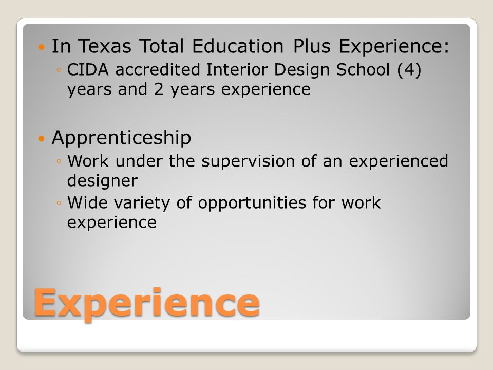 Experience In Texas Total Education Plus Apprenticeship