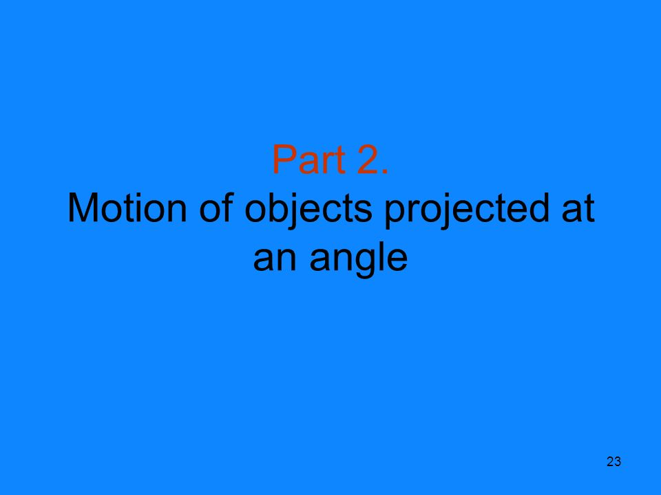 how to find angle of object projected