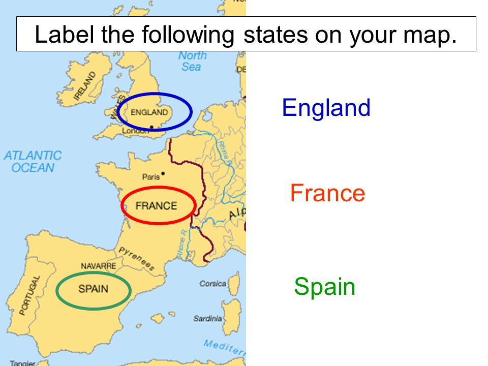 The world in ppt video online download england france spain label the following states on your map gumiabroncs Gallery