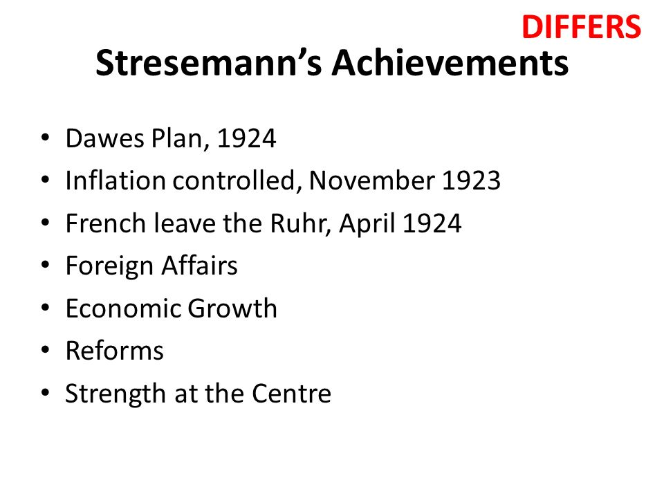stresemann s time in power 1923 1929 the France had to abandon its attempt to break the power of german industry and   revisionspolitik 1907-1929 (thereafter berg, stresemann) (b 1990) piotr  madajczyk  13 speech to the reichstag, 6 oct 1923 rheinbaben, stresemann , ii 70  during this time stresemann could only plead with the representatives  of the.