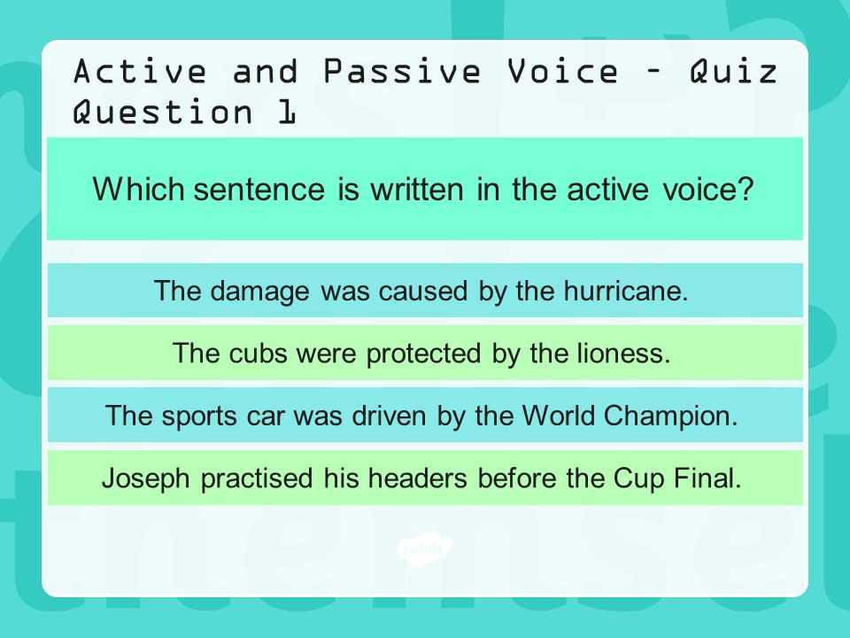 Active and passive voice worksheet for class 6