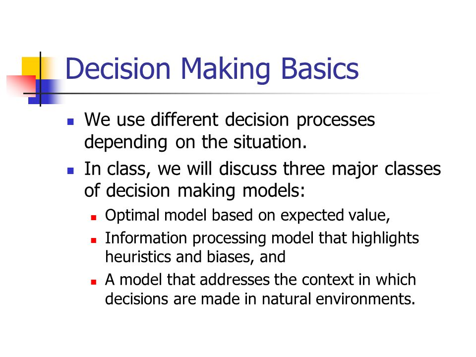 decision making heuristics bias In addition, key elements of rational decision making are simply ignored by the rational choice model keywords: critical thinking, rationality, heuristics, biases,.