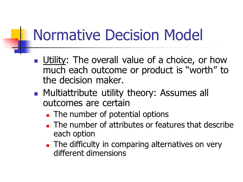 simon normative model Herbert a simon and the concept of rationality: boundaries and procedures (1947), though emphasizing the distinction between effective and theoretical behavior, assumes the model of global rationality and even prescriptive or normative the theory of global rationality.
