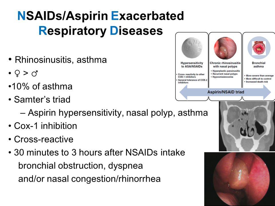 NSAIDs/Aspirin Exacerbated Respiratory Diseases