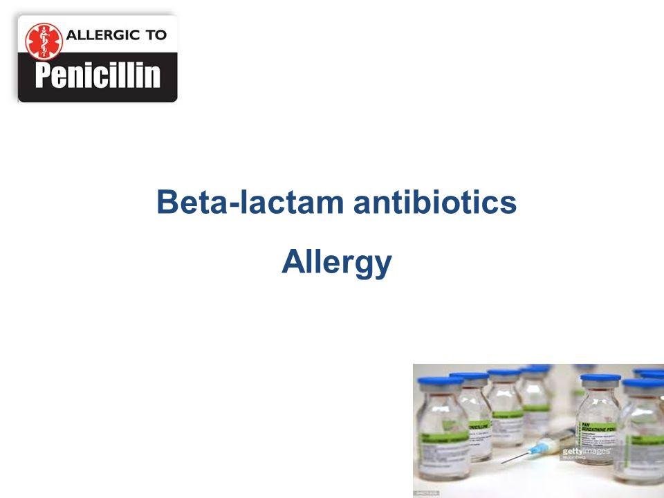 Beta-lactam antibiotics Allergy