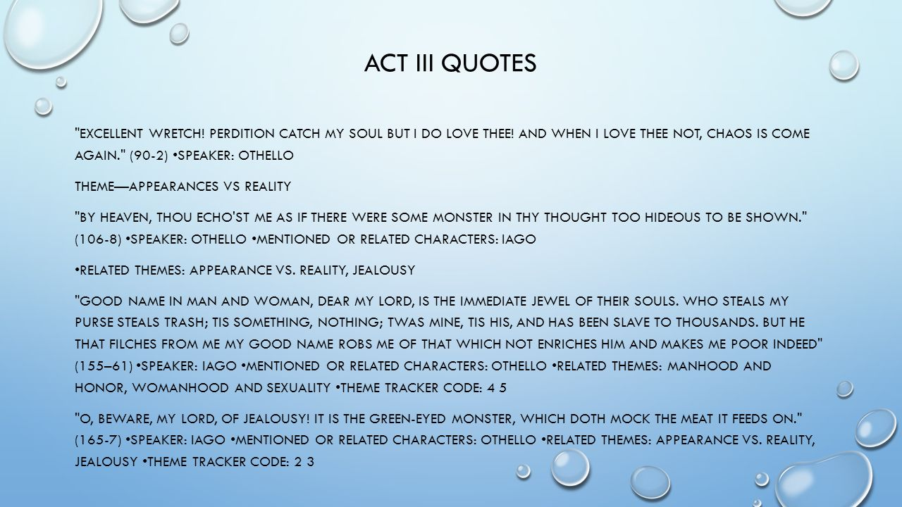 Othello Quotes The Tragedy Of Othello Introduction Ppt Download