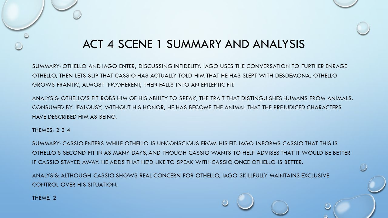 Othello Act I Summary