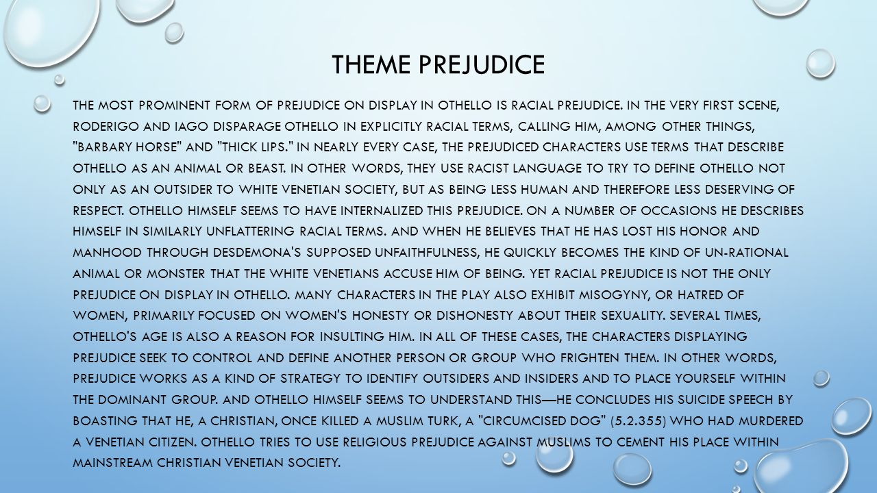theme about prejudice