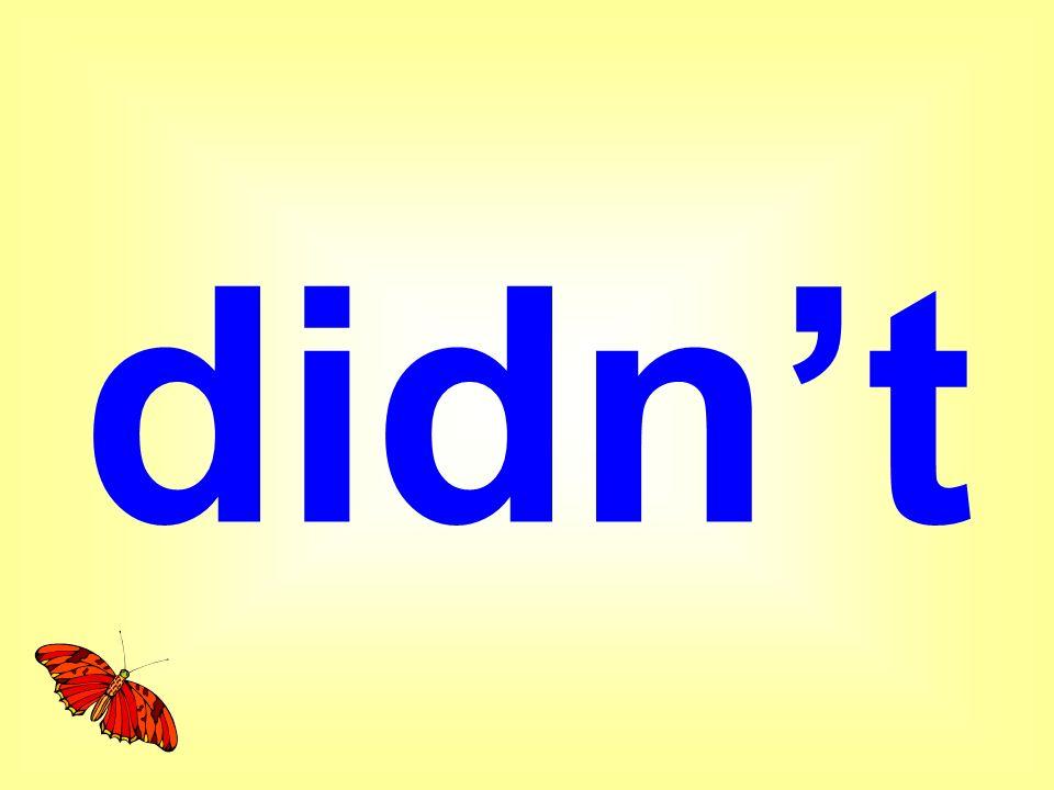 didn't