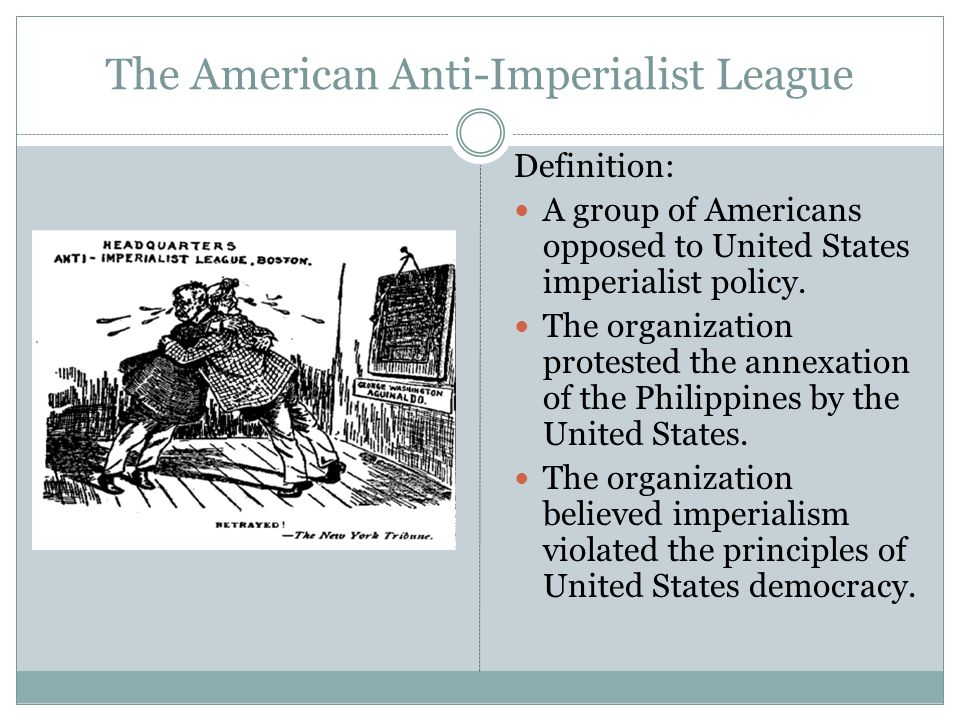 an analysis of the annexation of the philippines by the united states Roosevelt acknowledged and expressed regret for us abuses but  us  public opinion against philippine annexation in negotiations with spain  thing  and meaning another, professed to be 'mucho amigo' (good friends).