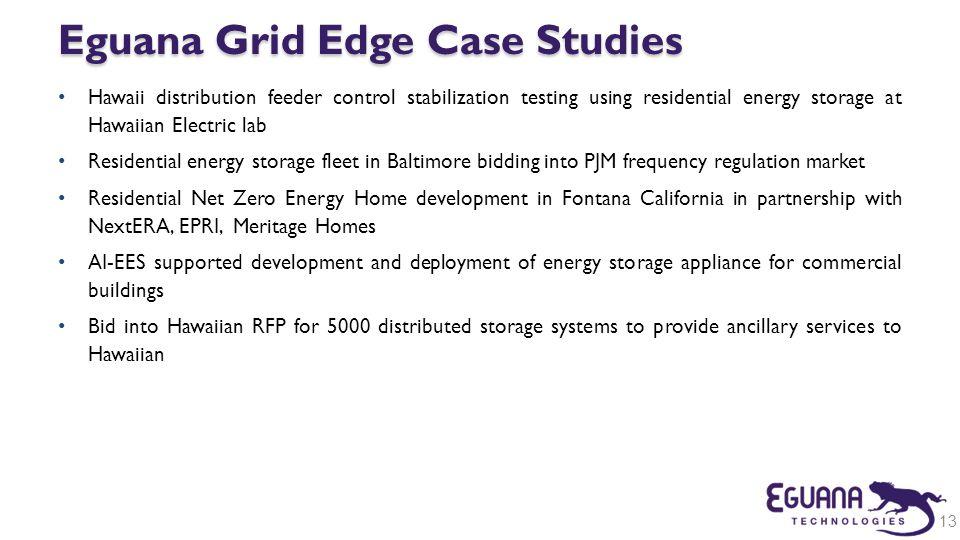 Eguana Grid Edge Case Studies
