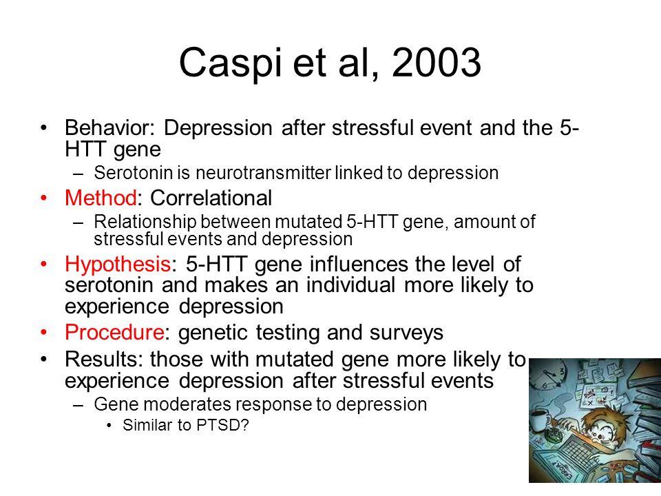 Caspi et al evaluation essay