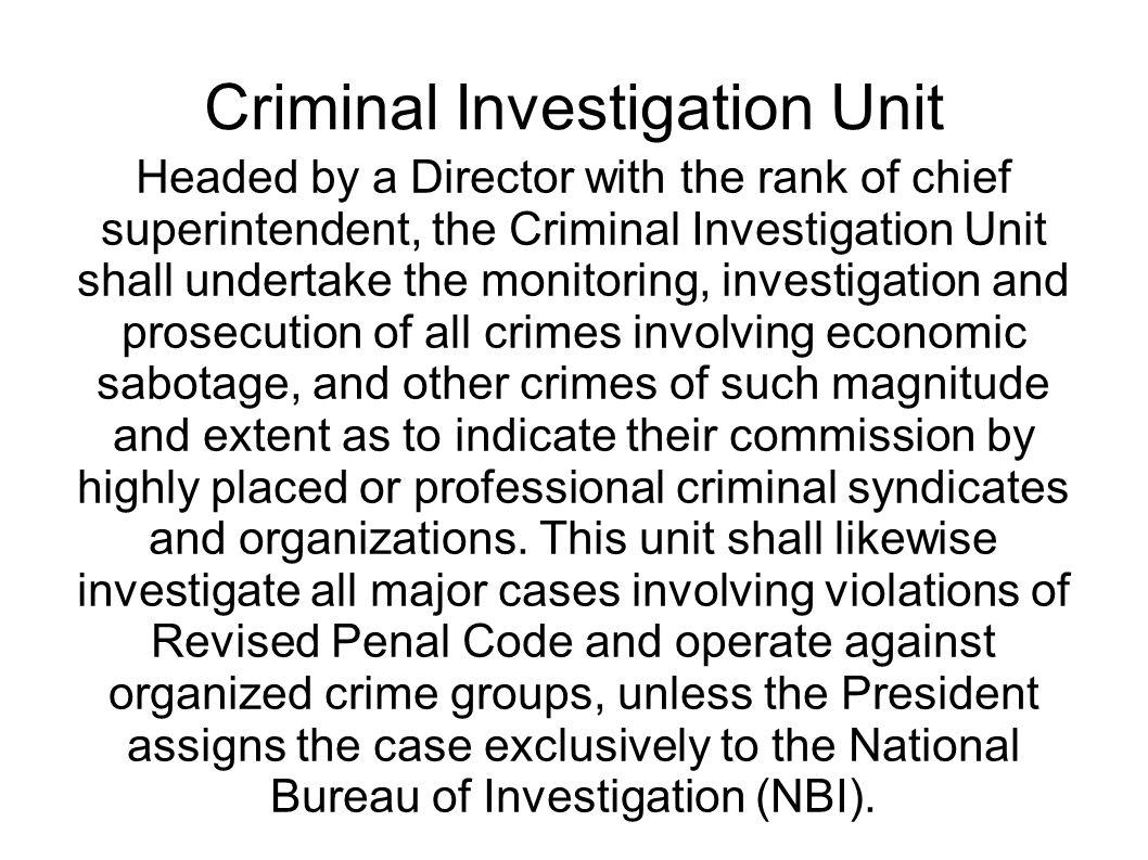criminal investigation unit 5 assignment final