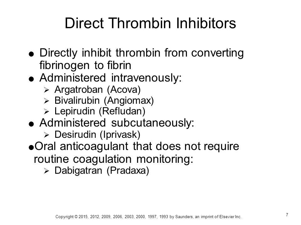 Anticoagulants, Antiplatelets, and Thrombolytics - ppt