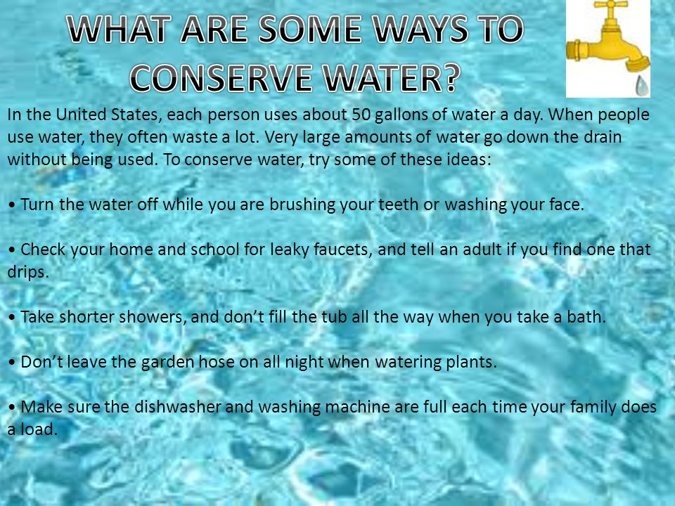 By andres felipe otero botero to t carmen elisa for Top 10 ways to conserve water