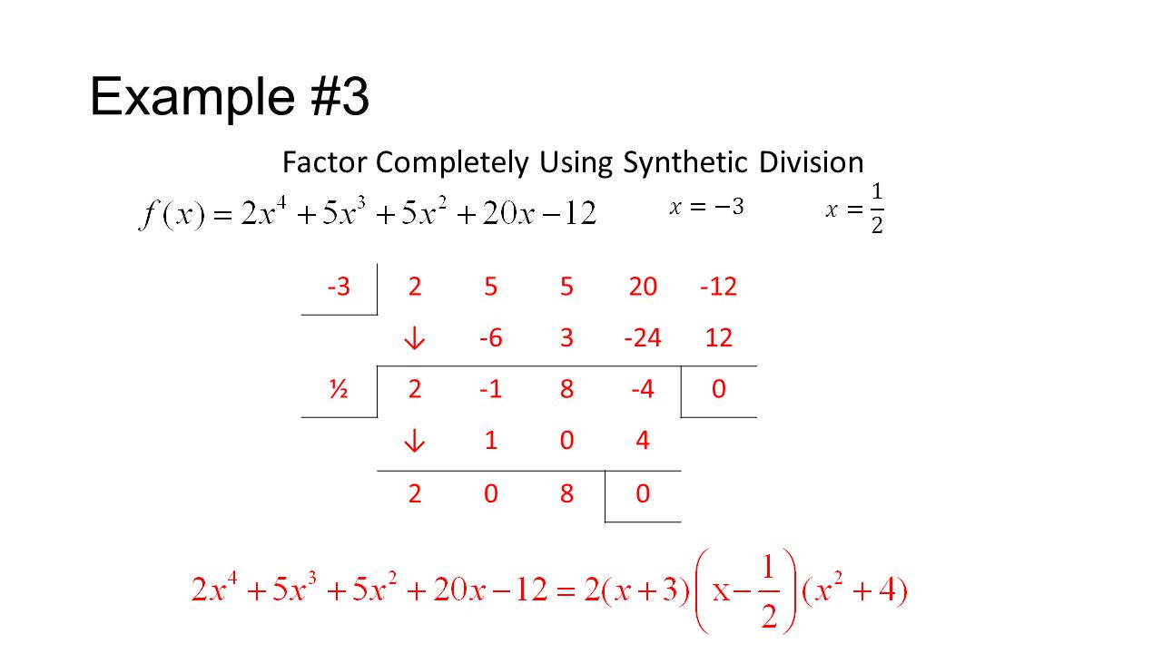worksheet Factoring Completely Worksheet polynomial synthetic division ppt download example 3 factor completely using 2 5 20 12